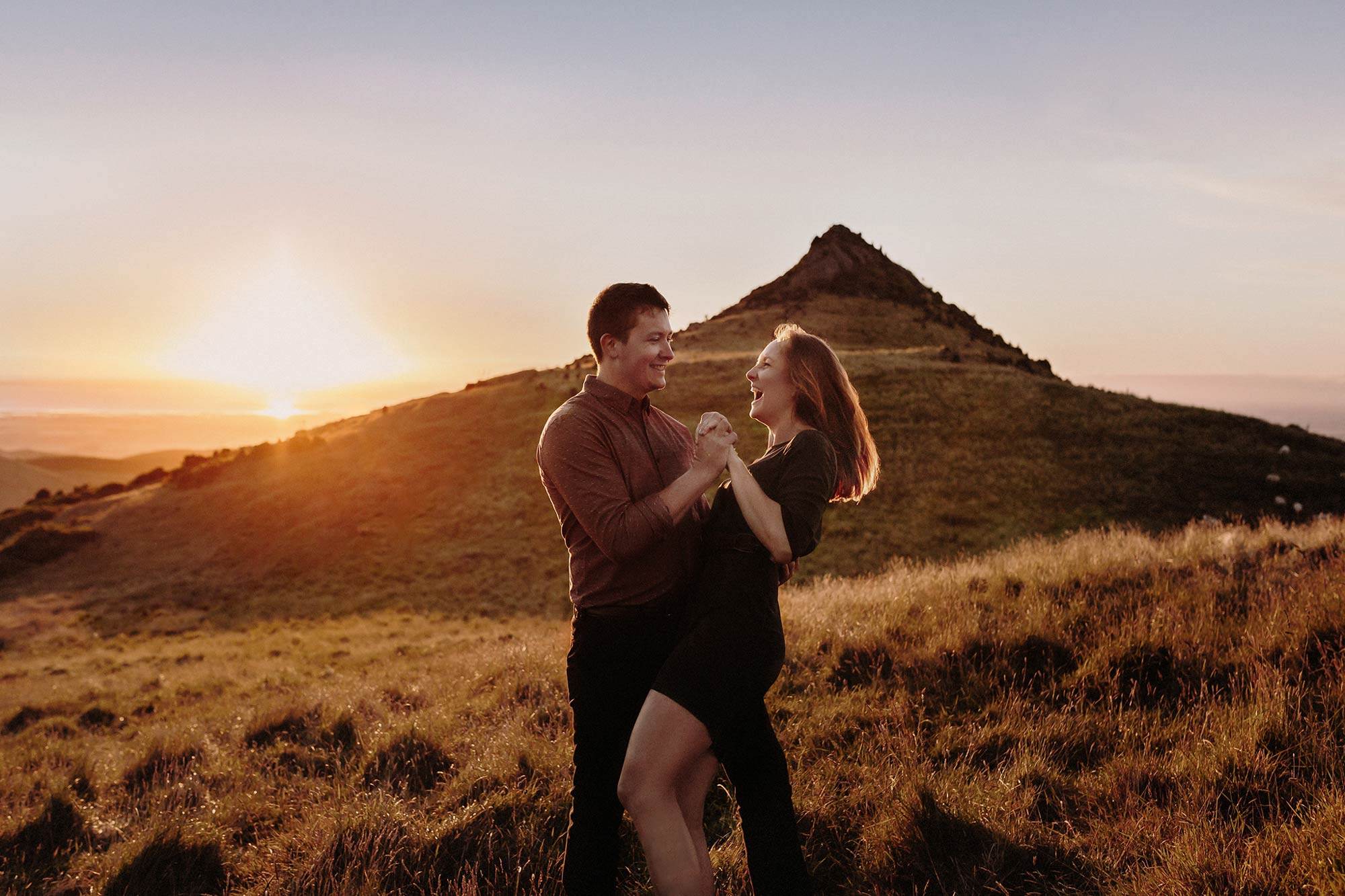 Gibraltar rock engagement photo