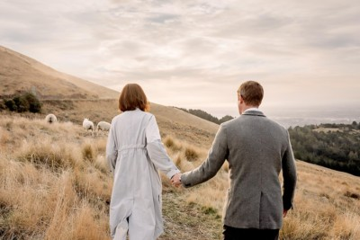 Port Hills wedding photograph