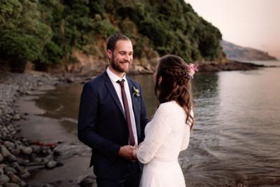 wainui wedding beach chch