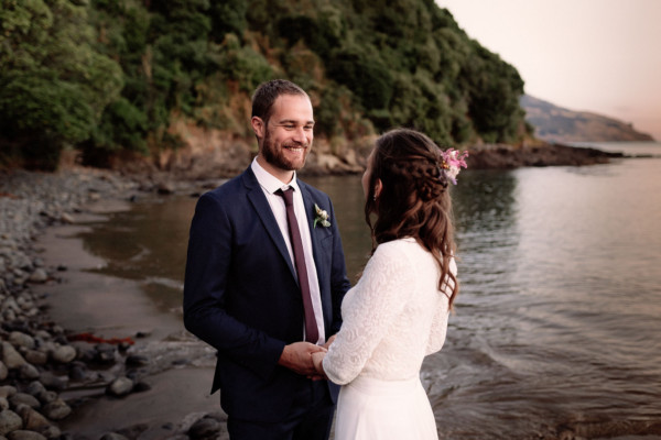 wainui wedding beach chch
